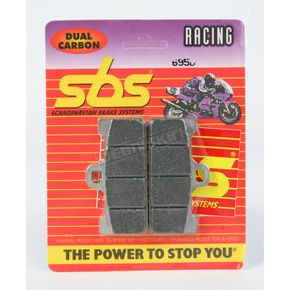SBS Racing Dual Carbon Brake Caliper Pads - 695DCS