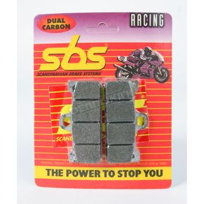 SBS Racing Dual Carbon Brake Caliper Pads - 711DCS