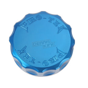 Pro-Tek Round Blue Brake/Clutch Reservoir Cover - RC450