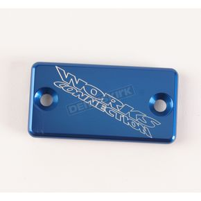 Works Connection Blue Anodized Billet Aluminum Front Brake Reservoir Cover - 21-020