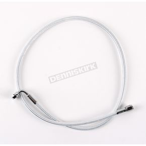 Magnum Custom Sterling Chromite II Designer Series 3/8 in./10mm 90 Degree Upper Front Brake Line  - 37239