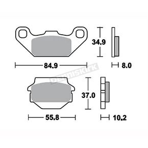 TufStop Heavy-Duty Ceramic Brake Pads - TSRP591