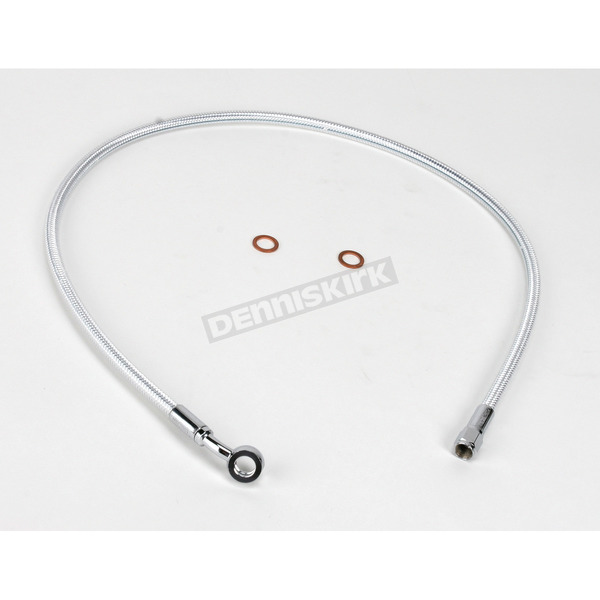 Magnum Custom Sterling Chromite II Designer Series 3/8 in./10mm 35 Degree Upper Front Brake Line  - 37131