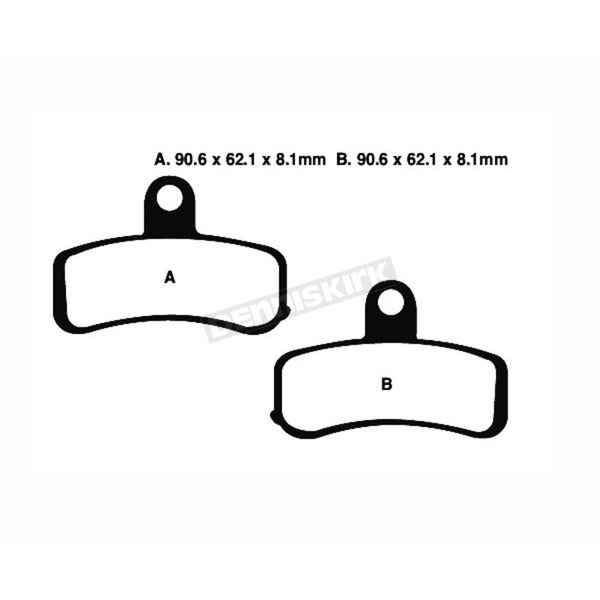 Double-H Sintered Metal Brake Pads - FA457HH