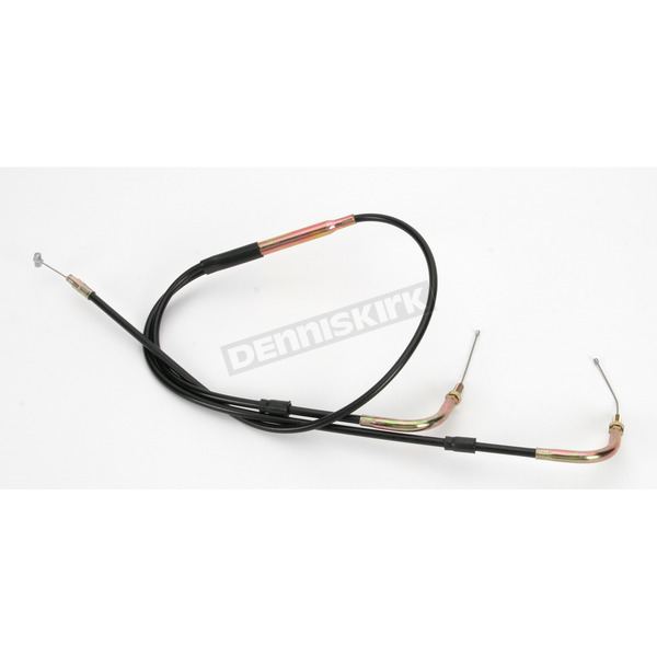 Parts Unlimited Universal 36.5 in./41 in. Dual Throttle Cable for 40-44mm Carbs - 924