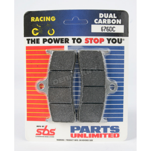 SBS Racing Dual Carbon Brake Pads - 676DCS