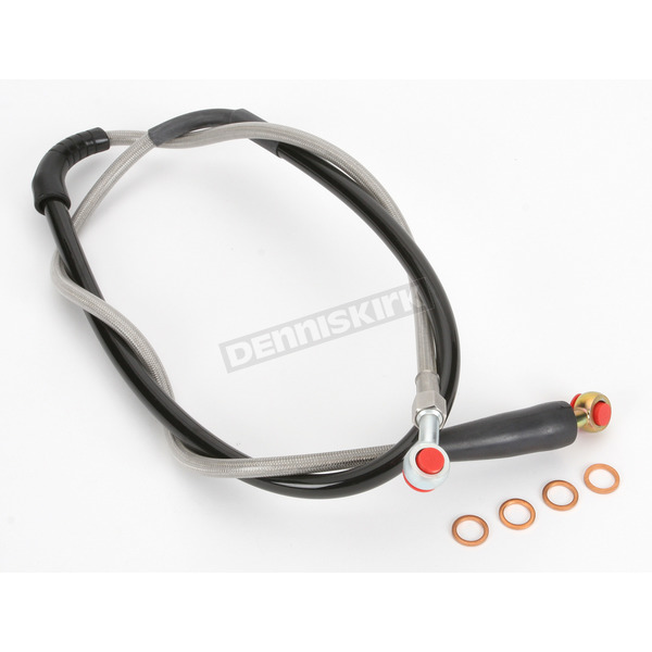 Moose Stainless Steel Front Braided Brake Line - MH02-1043