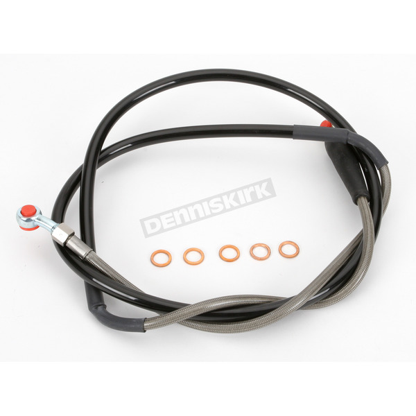 Moose Stainless Steel Front Braided Brake Line - MY01-1046