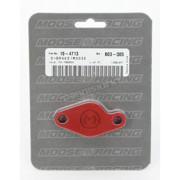 Moose E-Brake Red Block Off Plate - M880-54