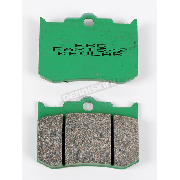 EBC Kevlar Caliper Brake Pads for Performance Machine 137x4R 4-Piston Caliper - FA216/2