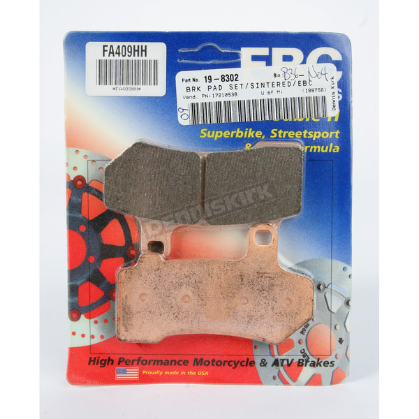 EBC Front or Rear Double H Sintered Metal Brake Pads - FA409HH