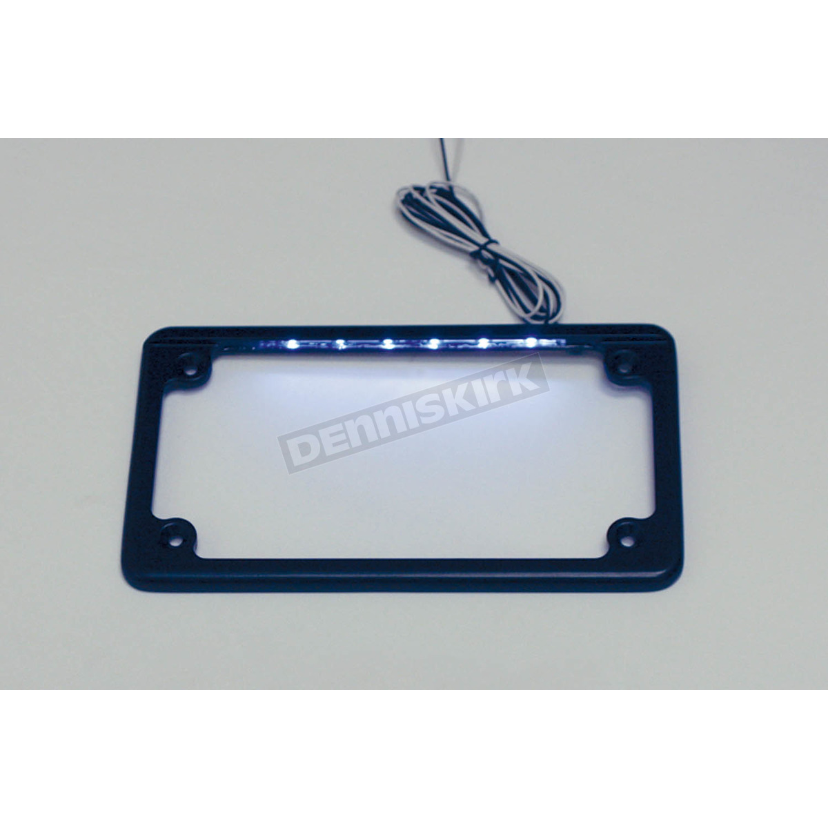 custom dynamics black led license plate frame lpf hrz b lp loading zoom
