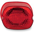 Red Oval Taillights w/o License Plate Illumination Window - GEN2-LD-R