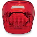 Red Oval Taillights w/License Plate Illumination Window - GEN2-LDW-R