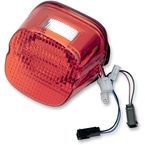 Red LED Integrated Laydown-Style Taillight with Built in Turn Signals and Window - GEN21-LDW-R