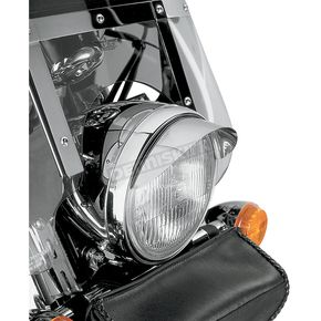 Show Chrome Universal 7 in. Headlight Visor - 53-429