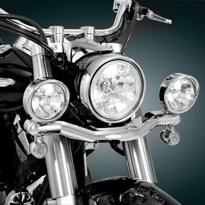 Show Chrome 3 1/2 in. Diameter Contour Driving Light Kit - 63-203