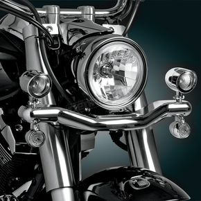 Show Chrome 2 3/8 in. Diameter Mini Contour Driving Light Kit - 63-204