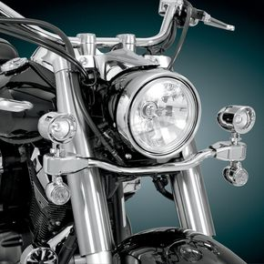 Show Chrome 2 3/8 in. Diameter Elliptical Driving Light Kit - 63-206