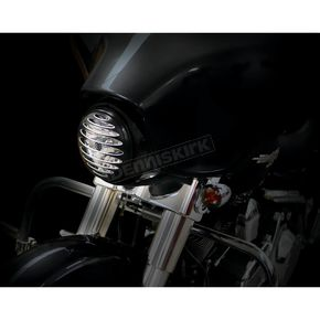 Arlen Ness Black Deep Cut Bezel for 7 in. Factory Headlights - 08-401