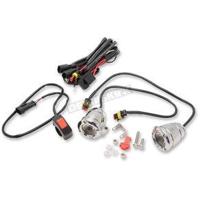 Chrome Compact Bullet LED Driving Light Kit - BL-LBP2RC