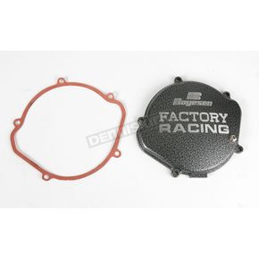 Boyesen Factory Racing Black/Silver Clutch Cover - CC-02