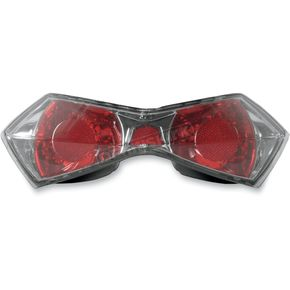 Parts Unlimited Red Taillight Lens - 01-104-26