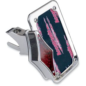 Accutronix Swingarm Vertical Side-Mount Chrome License Plate w/Taillight - LPF121VT-C