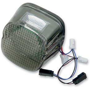 Custom Dynamics Smoke LED Integrated Laydown-Style Taillight with Built in Turn Signals and Window - GEN21-LDW-S
