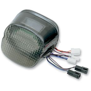 Custom Dynamics Smoke Blackout LED Integrated Laydown-Style Taillight with Built in Turn Signals and Window - GEN21-LDW-S-B