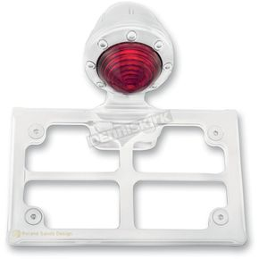 Roland Sands Design Chrome Taillight License Plate Horizontal Bracket - 0215-2006-CH