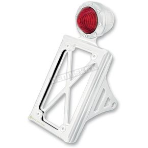 Roland Sands Design Chrome Taillight License Plate Vertical Bracket - 0215-2008-CH
