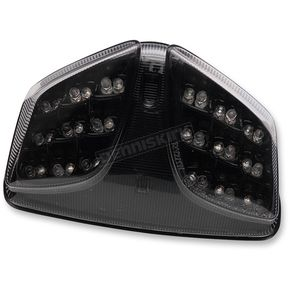 Black Integrated Taillight w/Smoke Lens - MPH-20069B