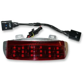 Custom Dynamics Low Profile Tri-Bar Dual Intensity LED Fender Tip w/Red Lens - RIV-TRI-1-RED