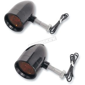 Lazer Star Black Rigid Micro B Turn Signals w/Amber Lenses Kit - LSK3220A-R