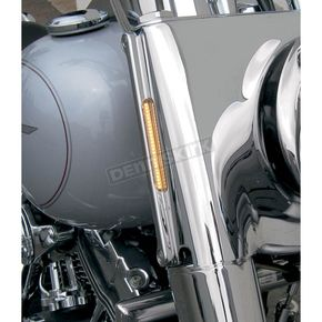 Alloy Art Chrome LED Front Signal Lights - FDH-1