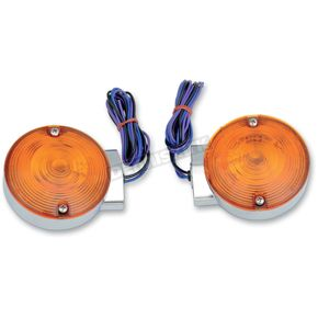 Drag Specialties Chrome Front Replacement Turn Signals  - 2020-0591