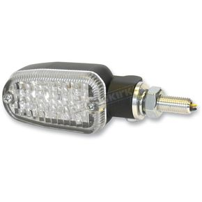 K & S Black LED Turnsignals w/Clear Lens and Two-Wires - 26-7704BK