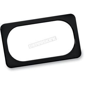 Arlen Ness Black Smooth License Plate Frame - 12-148