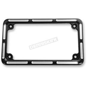 Arlen Ness Black Slot Track License Plate Frame - 12-134