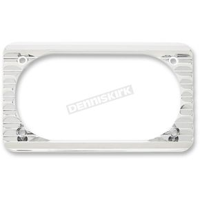 Arlen Ness Chrome Beveled License Plate Frame - 12-143