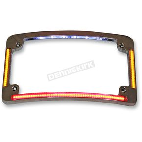 Custom Dynamics Chrome Radius License Plate Frame - TF05-C