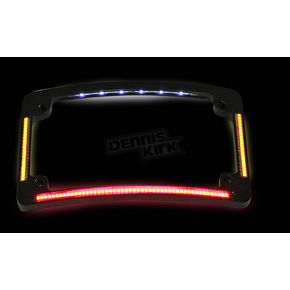 Custom Dynamics Black Radius License Plate Frame - TF05-B