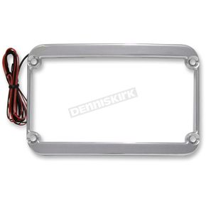 Klock Werks Chrome Lighted License Plate Frame - 2030-0839