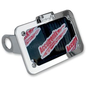 Accutronix Chrome Side-Mount License Plate - LPF075HV-C