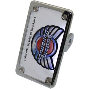 Chrome 2-1 Side Mount License Plate Mount - VSS09-C-CPT