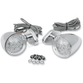 Drag Specialties Custom LED Bullet Marker Lights w/Diamond Base Mount - 2040-0462