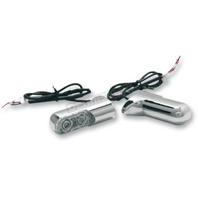 Arlen Ness Chrome Rear Bolt-On Turn Signals with 2.5 in. Power LEDs - Red - 12-740