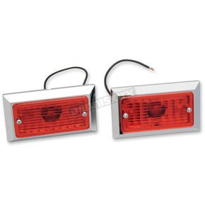 Chris Products Single Incandescent Style Marker Light w/Red Lens - 0714R-2