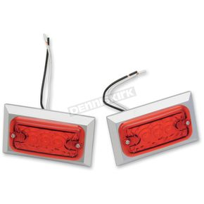 Chris Products LED Style Marker Light w/Red Lens - 0814R-LED-2